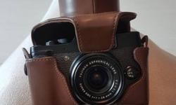 Fujifilm x10, leather pouch, SD card, charger for 270