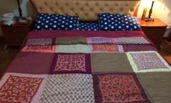 Full bedroom set - King size bed with spring mattress,
