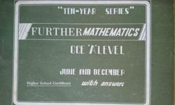 "Further Mathematics GCE ""A"" Level Exam papers with"