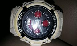White G Shock Men's watch In good working condition