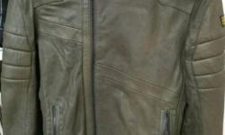G star raw Leather jacket. Good for riding.Worn once