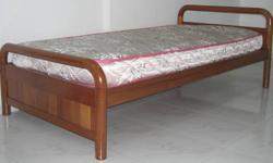 Garage Sale   Solid Wood Single Bed c/w Mattress Good