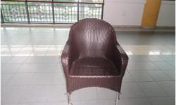USED GARDEN CHAIR BROWN WIRE CHAIR WITH HANDLE GOOD