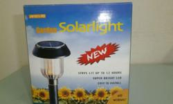SOLAR POWERED LIGHTING. ZERO OPERATING COST - CHARGED