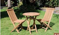 Garden Patio Table & Chair Teak Wood Outdoor Furniture