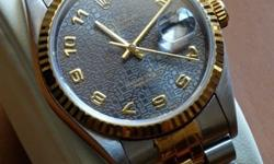 NICE ROLEX OYSTER PERPETUAL DATEJUST WITH EMBOSSED