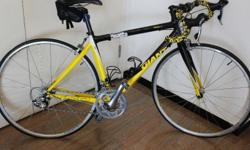 Giant road bike from 2010 used for one full season and