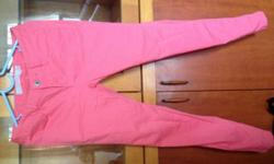 giordano skinny pink jeans size 25,used only few times