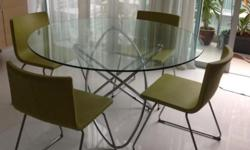 $1400 DINING SET FOR $200 1.3m diameter glass and