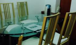 Good condition, glass oval shape table top for sale.