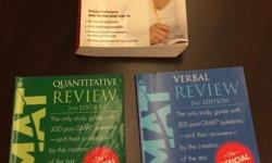 Three GMAT review books for sale. Official Guide