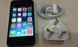 iPhone 4 32GB, Black color. Phone is in perfect working