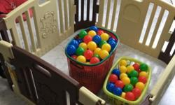 Good Condition Play Yard With 150 Balls @ $70 Only !