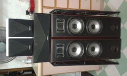 KENWOOD FLOOR SPEAKERS SUITABLE FOR HOME THEATRE MOVIES