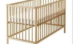 Good Day!! Wooden Baby cot (Ikea) for sale w/o