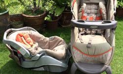Used; in perfect working condition. Stroller features:
