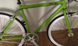 A green fixie good condition for sale Back tire tube