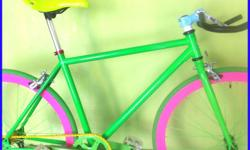 Green Fixie for Adult / Teen, Rider Height : 163 -