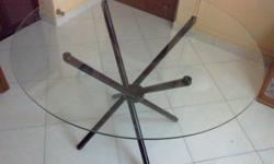 I have one ground glass table for sale. Good