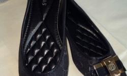 brand new gucci flat shoes inspired black w gucci logo