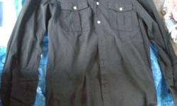 Hi, I am selling away a H&M Men Black Pocket Shirt Size