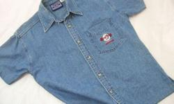 ~~~~ HARD RocK Café Denim Shirt $48 ~~~ One piece NEVER