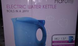 "Hi  I have a brand new ""Harumi electric water kettle"""