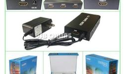 """Overview: The Four ways HDMI splitter / amplifier"