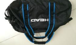 Sport bag from Head, soft material. Length about 50 cm.