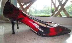 Shoe by Jimmy Choo 091 Demure Tie Dye Pat Red Size 41