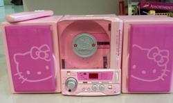 Used Hello Kitty CD Radio Cassette Player. CD Not