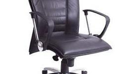 High Back Executive Chair Upholstered in Foam and BLACK