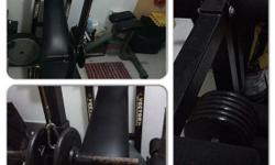 Olympic size bench press with lats pulldown,