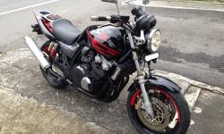 Nicely maintained black Honda Superfour VTEC CB400 for