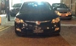 Honda Civic 1.8A for sale. Black colour with approve