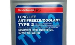 Honda Coolant Type 2 in 3.78L per bottle. Price is for