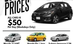 Honda Fit for rent Weekdays - $70/day Weekend - $270