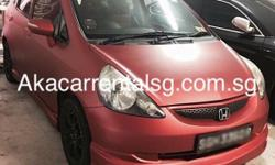 Honda Jazz For Rent. Auto transmission no phv decal