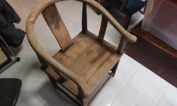 Pair of Old Horse Shoe Chair. Old varnish.Good patina.