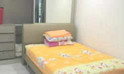 Hougang master bedroom with personal bathroom for