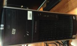 One set of HP Desktop for sales Complete with monitor,