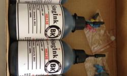Brand new. Used. HP printer black ink refill. $18 for