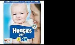 Huggies Dry Packaging : 3 packets / ctn Size : M - XXL