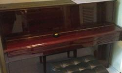 Hyundai Upright Home-used Piano (Brown Colour). Good