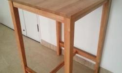 IKEA Bjorkudden 120cm High x 70cm square Bar Table. As