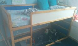 I am selling a Ikea Kura bunk bed with a barely used