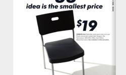 IKEA Chairs Herman range Stackable, plastic and powder