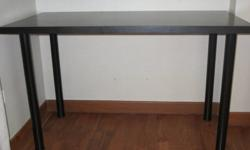 IKEA black/ brown (VIKA AMON) table with 4 black legs
