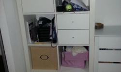 1 piece IKEA, Expedit with additional built in 2 drawer