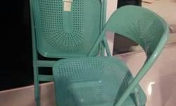 KEA Frode foldable chairs (turquoise) Hardly been used,